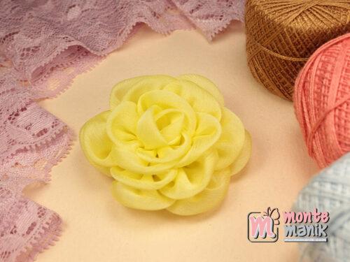 1 Buah Bunga Kain 5,5 cm Kuning (APB-180)