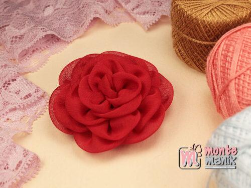 1 Buah Bunga Kain 5,5 cm Merah (APB-189)