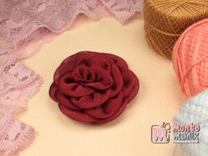 1 Buah Bunga Kain 5,5 cm Merah Hati (APB-184)