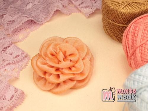 1 Buah Bunga Kain 5,5 cm Peach (APB-185)