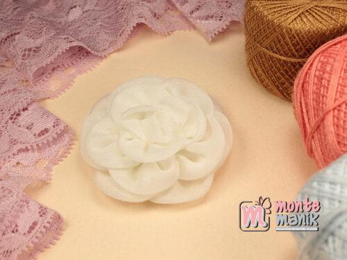 1 Buah Bunga Kain 5,5 cm Putih (APB-179)