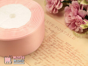 1 Meter Pita Grosgrain 4 cm Soft Pink GG43