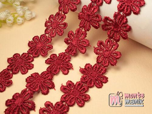 1 Yards Renda Bunga Melati Merah Hati GPR04