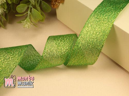 1 Meter Pita Glitter Hijau 2,5 cm PTR20