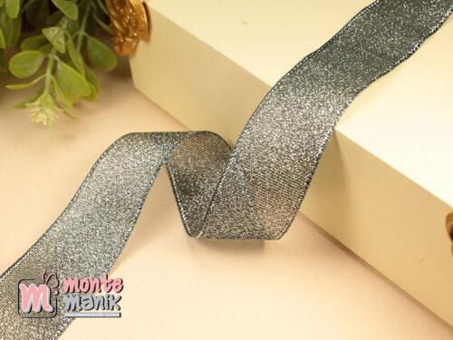 1 Meter Pita Glitter Hitam 2,5 cm PTR21