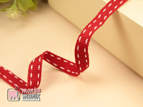 1 Yards Pita Strip 1 cm Merah PTR13