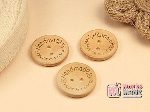 5 Buah Kancing Kayu Bundar Handmade 2,5 cm KKN130