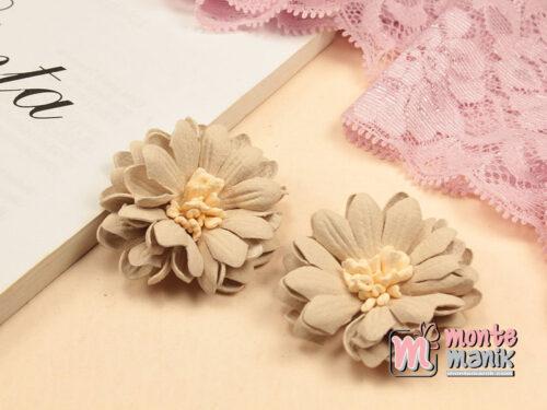 1 Buah Bunga Suede Aster Creame 4 cm (APB-206)