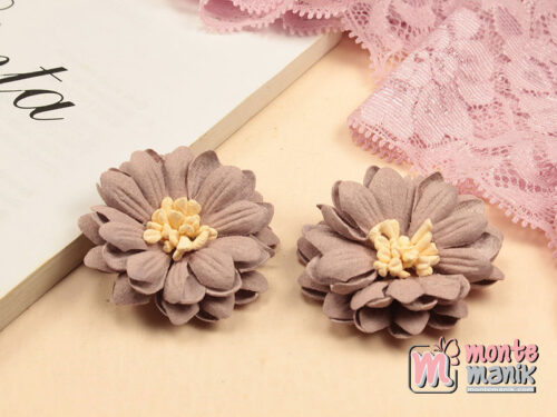 1 Buah Bunga Suede Aster Dusty Pink 4 cm (APB-212)