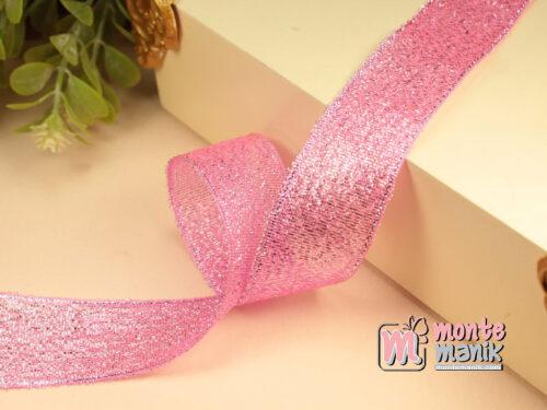 1 Meter Pita Glitter Pink 2,5 cm PTR24
