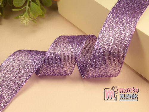 1 Meter Pita Glitter Ungu 2,5 cm PTR27