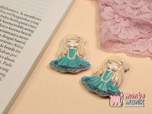 1 Buah Resin Princess Biru 4 cm APR04