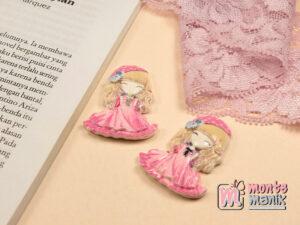 1 Buah Resin Princess Pink 4 cm APR05