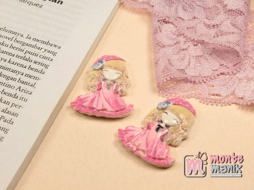 1 Buah Resin Princess Pink 4 cm APR05